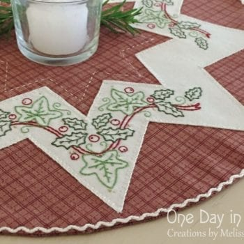 A Festive Star Embroidered Doily