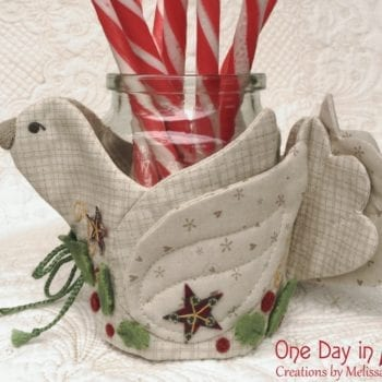 A Merry Dove Jar or Candle Wrap