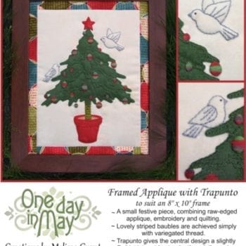O' Christmas Tree Framed Applique