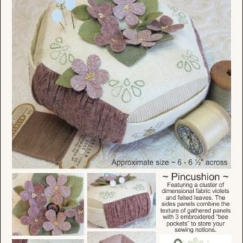 For the Love of Violets Pincushion