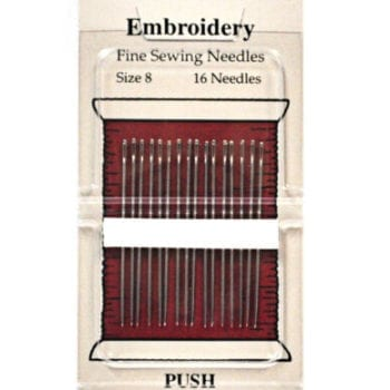 Piecemaker Embroidery needles – Size 8