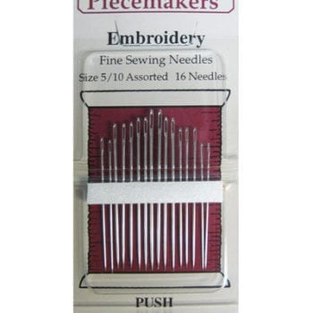 Piecemaker Embroidery needles – Sizes 5-10
