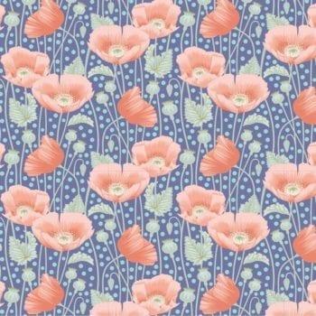 Tilda – Gardenlife – Poppies Blue 100319