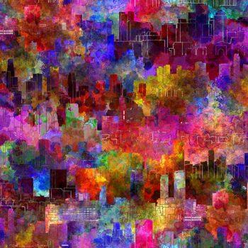 Urban Jungle – Multicolour Cityscape 5UJ-1
